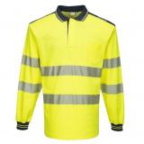 Portwest T184 - PW3 Hi-Vis hosszú ujjú pólóing, sárga/fekete