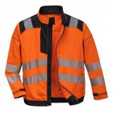 Portwest T500 - PW3 jól láthatósági kabát, narancs/fekete
