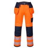 Portwest T501 - PW3 Hi-Vis lengőzsebes nadrág, narancs/fekete