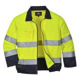 Portwest TX70 - Madrid Hi-Vis kabát, sárga/tengerészkék
