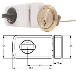 ELZETT 6784 felcsavarozható másodzár, fehér termék fő termékképe