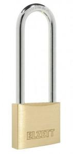 ELZETT 2051 Tutor edzett kengyelű hengerzáras lakat, extra hosszú kengyellel, réz, 40 mm termék fő termékképe