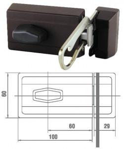 ELZETT 6785 felcsavarozható másodzár biztonsági kitekintővel, barna termék fő termékképe