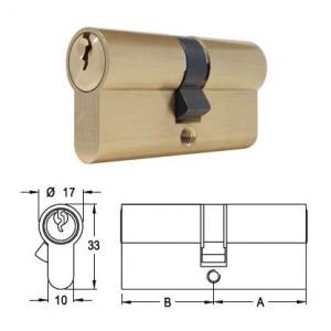 ELZETT 751 sárgaréz hengerzárbetét, 30+30 mm termék fő termékképe