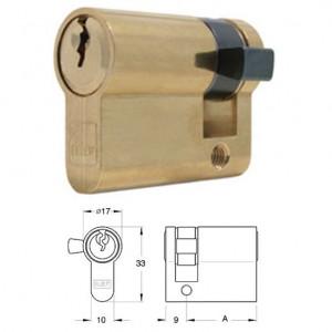 ELZETT 754 sárgaréz egyoldalas hengerzárbetét, 30 mm termék fő termékképe