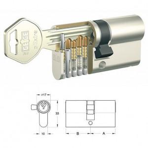 GEGE pExtra matt-nikkel hengerzárbetét, 50+50 mm termék fő termékképe