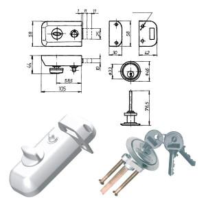 ELZETT RÓNA 041-11/F felcsavarozható másodzár, fehér termék fő termékképe