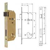 ELZETT VALIDO 7420 hengerzárbetétes bevésőzár szögletes előlappal, 90/45 mm