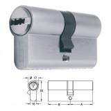 ELZETT X-6 matt-nikkel hengerzárbetét, 30+30 mm