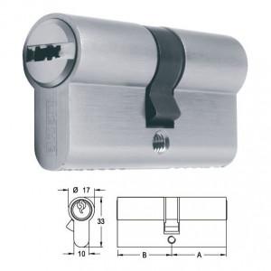 ELZETT X-6 matt-nikkel hengerzárbetét, 30+30 mm termék fő termékképe