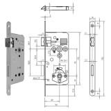 GEGE 121 WC Ö-Norm fürdőszoba és WC zár lekerekített előlappal, 90/60 mm