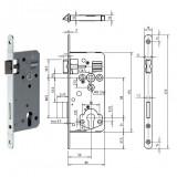 Gege.ergo PZ Ö-Norm hengerzárbetétes bevésőzár lekerekített előlappal, 88/50 mm