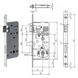 Gege.ergo WC Ö-Norm fürdőszoba és WC zár lekerekített előlappal, 90/50 mm