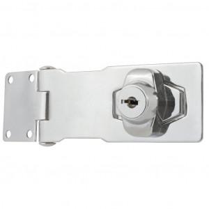 Kulccsal zárható lakatpánt, króm, 100 mm termék fő termékképe
