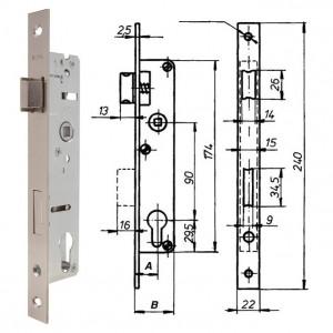 ELZETT RÓNA 85/35 V hengerzárbetétes portálzár, 85/35 mm termék fő termékképe
