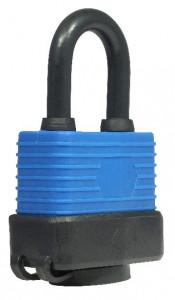 Műanyag borítású vízálló lakat, fekete-kék, 40 mm termék fő termékképe