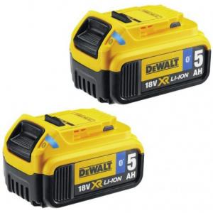 DCB284B 2 x 18 V XR 5.0 Ah Li-ion Bluetooth akkumulátor termék fő termékképe